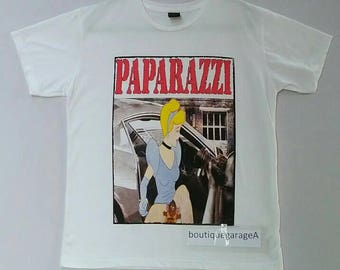 Rare!! Paparazzi spell out pull over big logo white colour large size