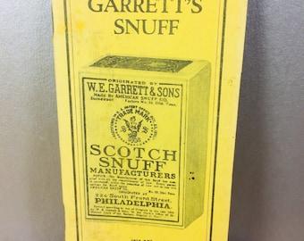 Garrett's Snuff Pocket Notebook
