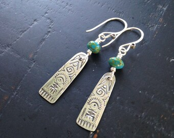 MADE TO ORDER, Sterling Tablet Earrings
