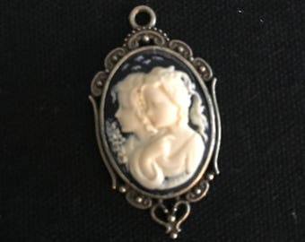cameo pendant, customize  your own necklace