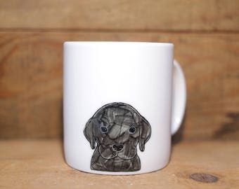 Hand painted animal mug cup - Cute mug cup - Coffee mug - Labrador Retriever dog mug cup