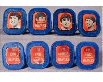Rare Original Vintage 1960s BEATLES Flicker Ring Set Rings