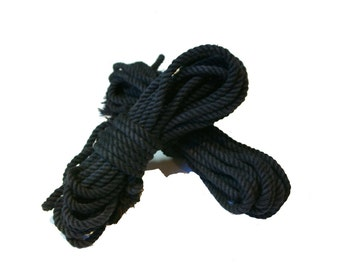 Charcoal Single Hank of Cotton Rope