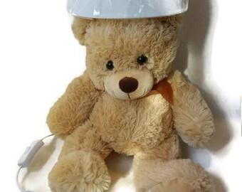 Cute bear lamp - nightlight , Gift for girls and boys, Babyshower gift, bear night light, Baby lamp, Nightlight bear.