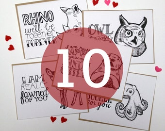 10-Pack - Choose Any 10 Hand Lettered Greeting Cards