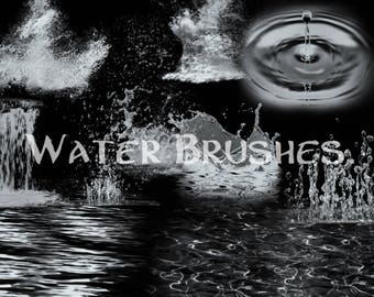 Water and Splash brushes - procreate