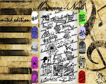 Nail art stamping plate Marianne Nails Music 133
