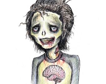 Drawloween Original - Zombie
