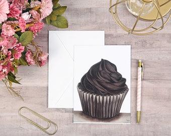 Cupcake Watercolor Card 5x7