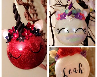 Unicorn Ornaments - Custom Ornaments - Christmas Gift - Christmas Decorations