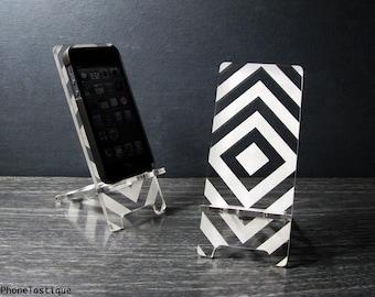 Retro Op-Art Supergraphic Smart Phone Stand Docking Station 5 Größen - iPhone 6, iPhone 6 Plus, iPhone 5 - Mid Century Modern Abstract Design