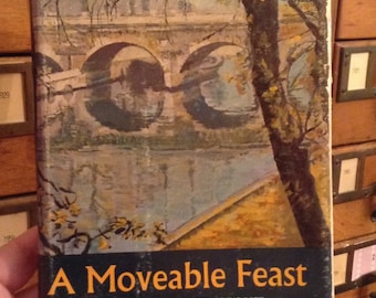 A Moveable Feast by Ernest Hemingway, First Edition Vintage Book, Hardcover Book, Book Collector Gift, Classic Book, Collectible Book,