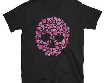Pink Skull Florish t-shirt
