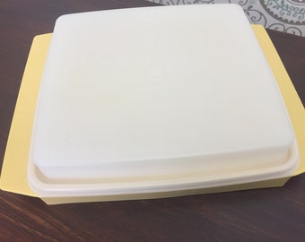 Tupperware Yellow Dividec Storage Container