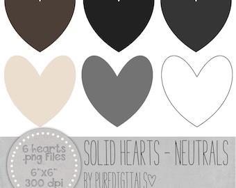 Heart Clip Art, Heart PNG, Sold Hearts, Digital Scrapbooking, Scrapbooks, Colored Hearts, Digital Hearts, Digital ClipArt, Digital Clip ARt