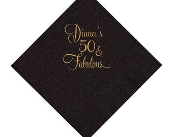 50 and Fabulous Napkins