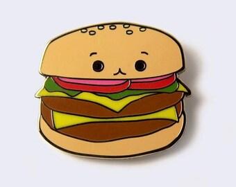 Cheeseburger Enamel Pin - Burger Enamel Pins - Fast Food Lapel Pin - Hamburger