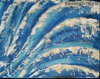 Acrylic Painting,Original Canvas Art, Waves