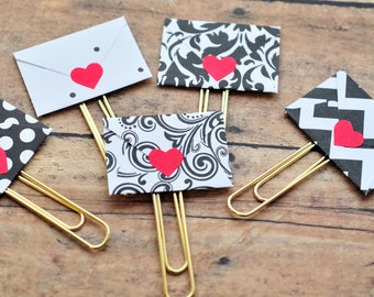 Love Note Paperclip // Bookmark // Planner Paperclip // Office Accessories // Diary Accessories // Gift for Book Lovers