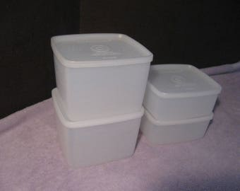Vintage Set of Tupperware Containers  Seal Tight Storage Container Plastic Food Storage Container  Vintage Tupperware Sheer