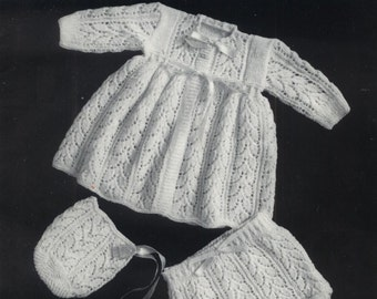 Baby Knitting Pattern Romper Hat Amp Bootees Download Pdf