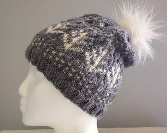 Winter Garden Knit Hat Pattern