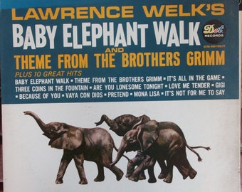 Lawrence Welk's Baby Elephant Walk and Theme from the Brothers Grimm, Plus 10 Great Hits, Vintage Record Album, Vinyl LP, Champange Music