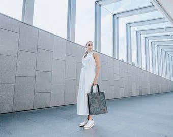 Tote Bag / Felt Tote bag / Shopper Bag / Grey Felt Tote Bag / Grey Felt Shopper / Shoulder Bag / Felt Bag / Carry All Bag / Laptop Bag