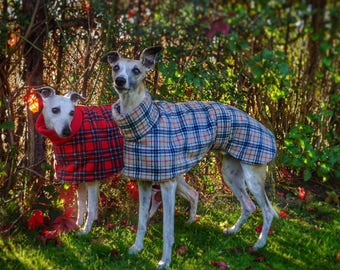 whippet and greyhound fleece coats jumpers clothing