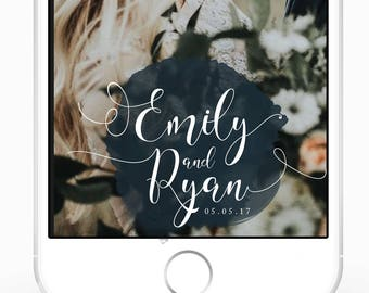 Navy Wedding SnapChat GeoFilter | SnapChat Wedding Filter | Snapchat Filter | Custom Filter | Navy Blue