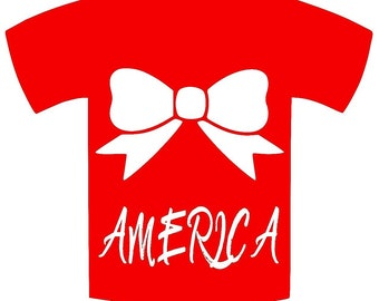 America with bow  shirt