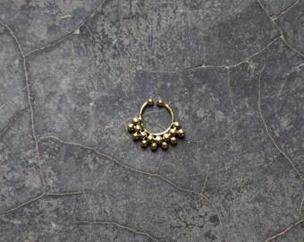 brass fake septum ring helix tragus cartilage earring boucle d'oreille en laiton faux piercing de nez