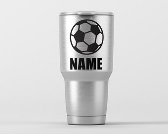 Soccer Ball (Personalization Available) / Yeti Decal / Vinyl Decal / Yeti Tumbler Decal / Yeti Cup Decal / RTIC / *Tumbler Available *