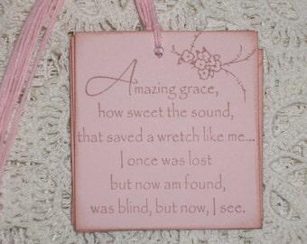 Gift Tags - Amazing Grace - Set of Six
