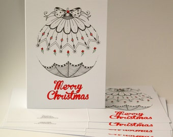 Zentangle Christmas Cards Merry Christmas