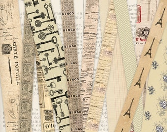 Washi Tape Paper printable craft art hobby crafting scrapbooking instant download digital collage sheet - VDMIVI0933