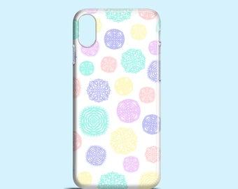 Snowflakes iPhone X case / festive iPhone 8 case / iPhone 8 Plus, 7 Plus, pastel iPhone 7 / cute iPhone 6s case / Christmas iPhone SE case