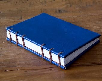 Hand-Made Hardback Leather-Bound Coptic Stitch Pocket Sketchbook/Journal (A6)