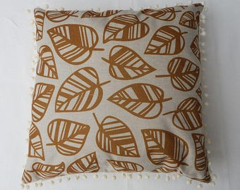 Leaf pattern pillow cover