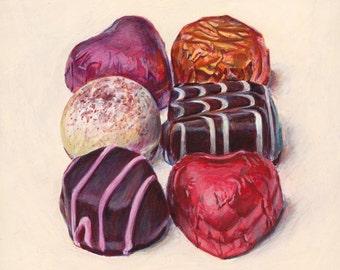 Chocolates 2. Giclée print.