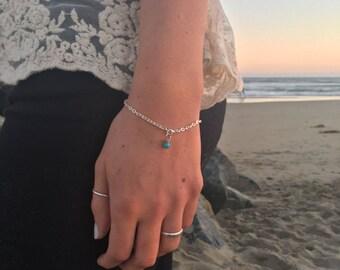 turquoise bracelet, boho jewelery