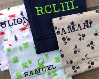 Embroidered Baby Blanket - Personalized Baby Receiving Swaddler Blanket with Baby Name