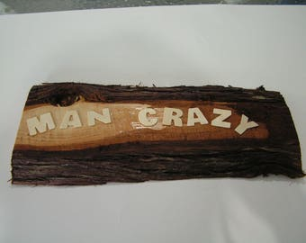 sign,cedar, wood,bark,gift,michigan,home,decor,shop,office,birthday,kitchen,wall hanging,