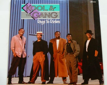 """Kool & the Gang - Rags to Riches - 12"""" Single - Funk - Soul - Disco - Polygram Records 1988 - Vintage Vinyl Single Record"""