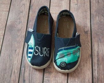 Surfer Hand Painted Tiny Tom's