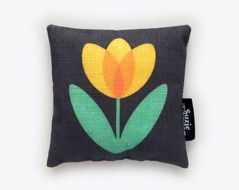 Yellow Tulip Lavender Bag in Midnight