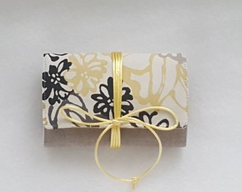 Mini Travel Jewelry Roll Small Yellow Floral Unique Bridesmaid Gift Storage Jewelry Roll Case Jewelry Roll Brides Gift Jr Bridesmaid Gift