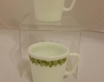 Pyrex Spring Blossom coffee cups