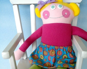 Doll Sewing Pattern for Adorable Dollies - PDF e-Pattern