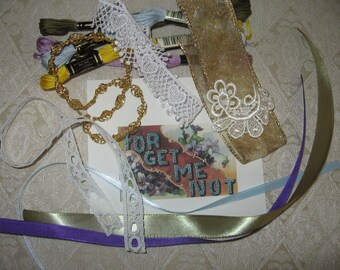 Bling Bag:  Embellishments for Crazy Quilting--Forget Me Not Bag